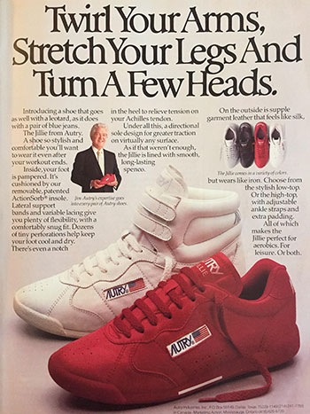 picture of 80s ad for autry shoes
